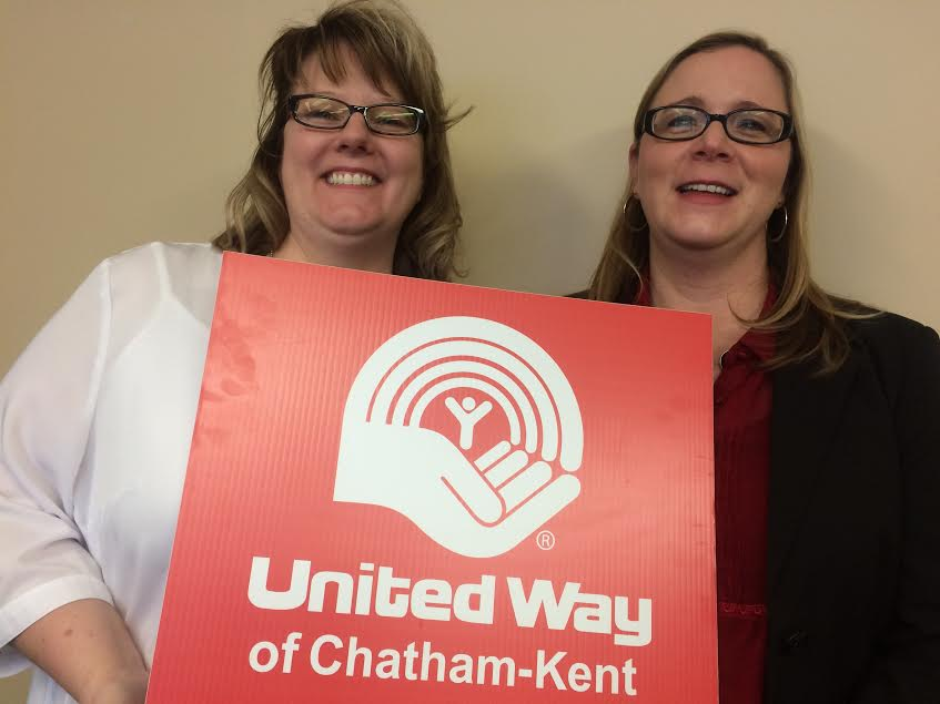 United Way Chatham-Kent co-chairs Kelly Bayda and Aimee June, January 21, 2016. (Photo by Ricardo Veneza)