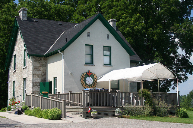 The Canadian Baseball Hall of Fame in St. Marys. Photo by Flickr user Robert Taylor. Used with a Creative Commons licence.