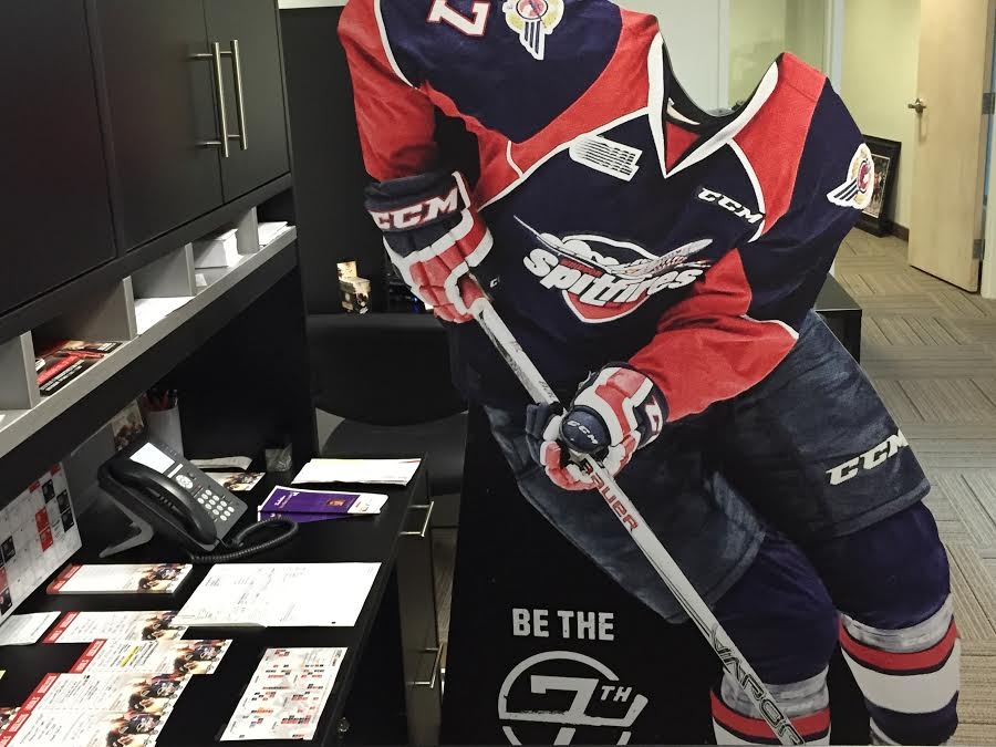 The Windsor Spitfires '7th Man' back at the WFCU Centre after being stolen. (Photo provided by the Windsor Spitfires)