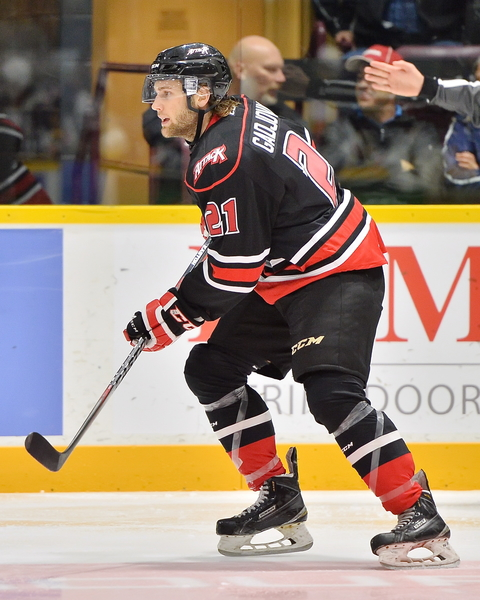 Jonah Gadjovich of the Owen Sound Attack. Photo by Terry Wilson / OHL Images.