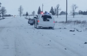 Crash on Hwy. 86 between Bluevale and Molesworth on February 12, 2016. (Submitted photo)