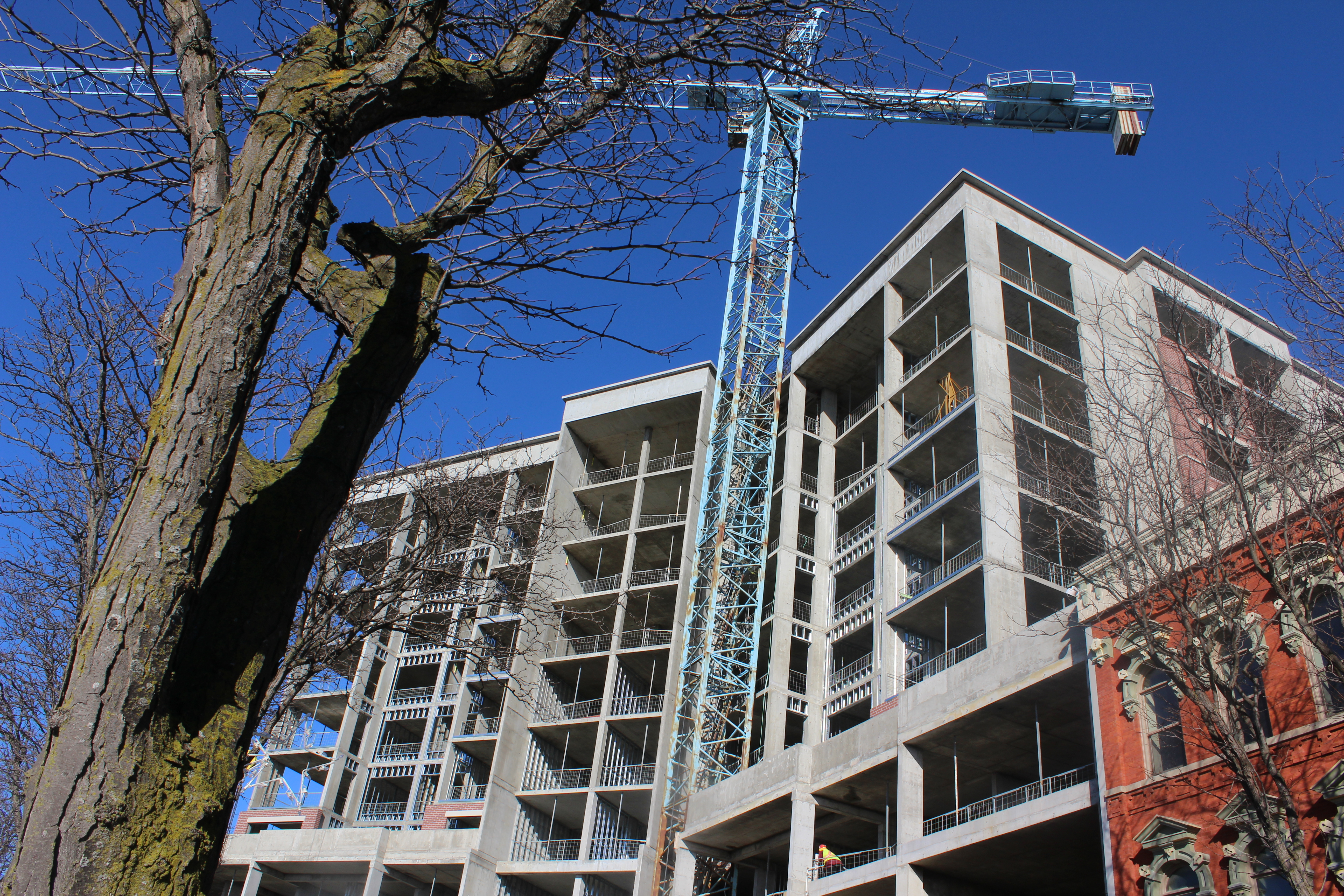 New condominiums under construction in downtown Chatham seen on February 3, 2016. (Photo by Ricardo Veneza)