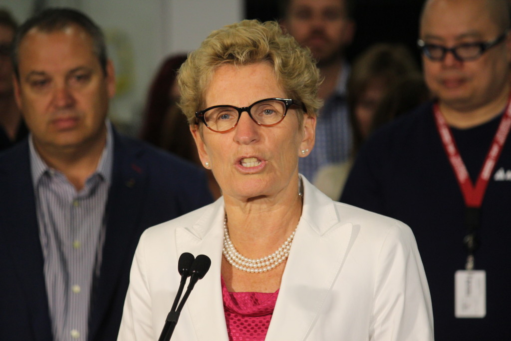 Premier Kathleen Wynne. (Photo by Mike Vlasveld)