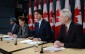 Defence Minister Harjit Sajjan, left to right, International Development Minister Marie-Claude Bibeau, Prime Minister Justin Trudeau and Foreign Affairs Minister Stephane Dion attend a news conference in Ottawa on Monday, Feb. 8, 2016. The Liberal government announced Canada's contribution to the war against the Islamic State of Iraq and the Levant. THE CANADIAN PRESS/Sean Kilpatrick