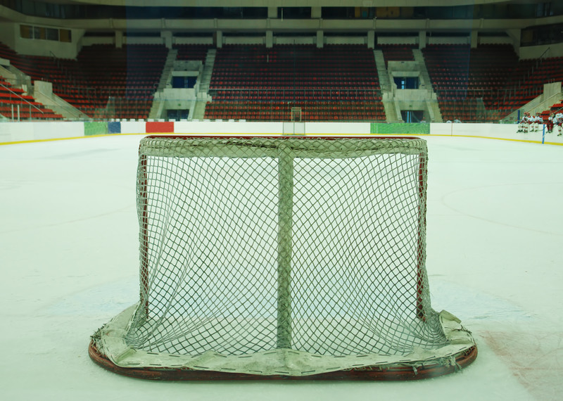 Empty hockey net. © Can Stock Photo Inc. / alkir