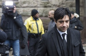 ormer CBC radio host Jian Ghomeshi leaves a Toronto courthouse following day six of his trial on Tuesday, Feb. 9, 2016. THE CANADIAN PRESS/Chris Young