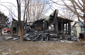 Lakeshore fire crews were called to a house on Valentino Dr. near Golfview Dr., February 10, 2016. (Photo courtesy Lakeshore fire)