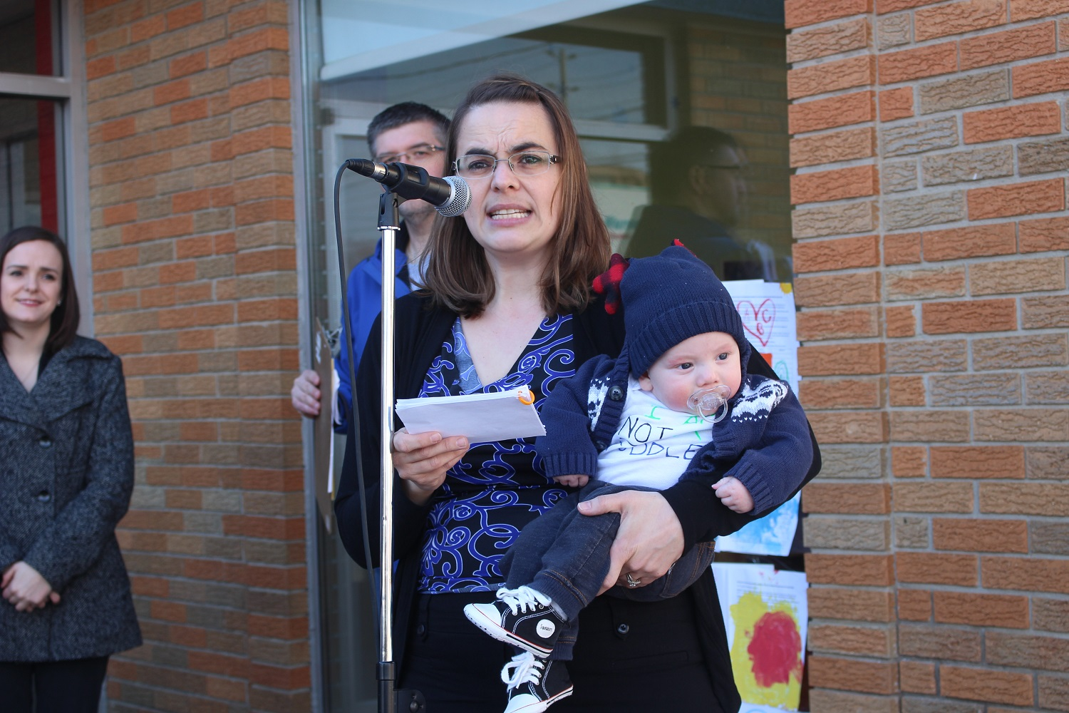 Registered Early Childhood Educators hold rally at ABC day Nursery in Windsor to voice opposition to proposed provincial child care regulations, March 17, 2016. (Photo by Maureen Revait)