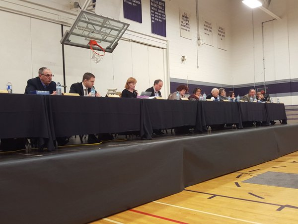 WECDSB trustees hold a meeting regarding a possible school closure in west Windsor on March 1, 2016. (Photo by Caleb Workman)
