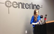 Apprentice Rebecca Turner speaks about St. Clair College's pre-apprenticeship program at a news conference at Centerline in Windsor, March 31, 2016. (Photo by Maureen Revait) Apprentice Rebecca Turner speaks about St. Clair College's pre-apprenticeship program at a news conference at Centerline in Windsor, March 31, 2016. (Photo by Maureen Revait)