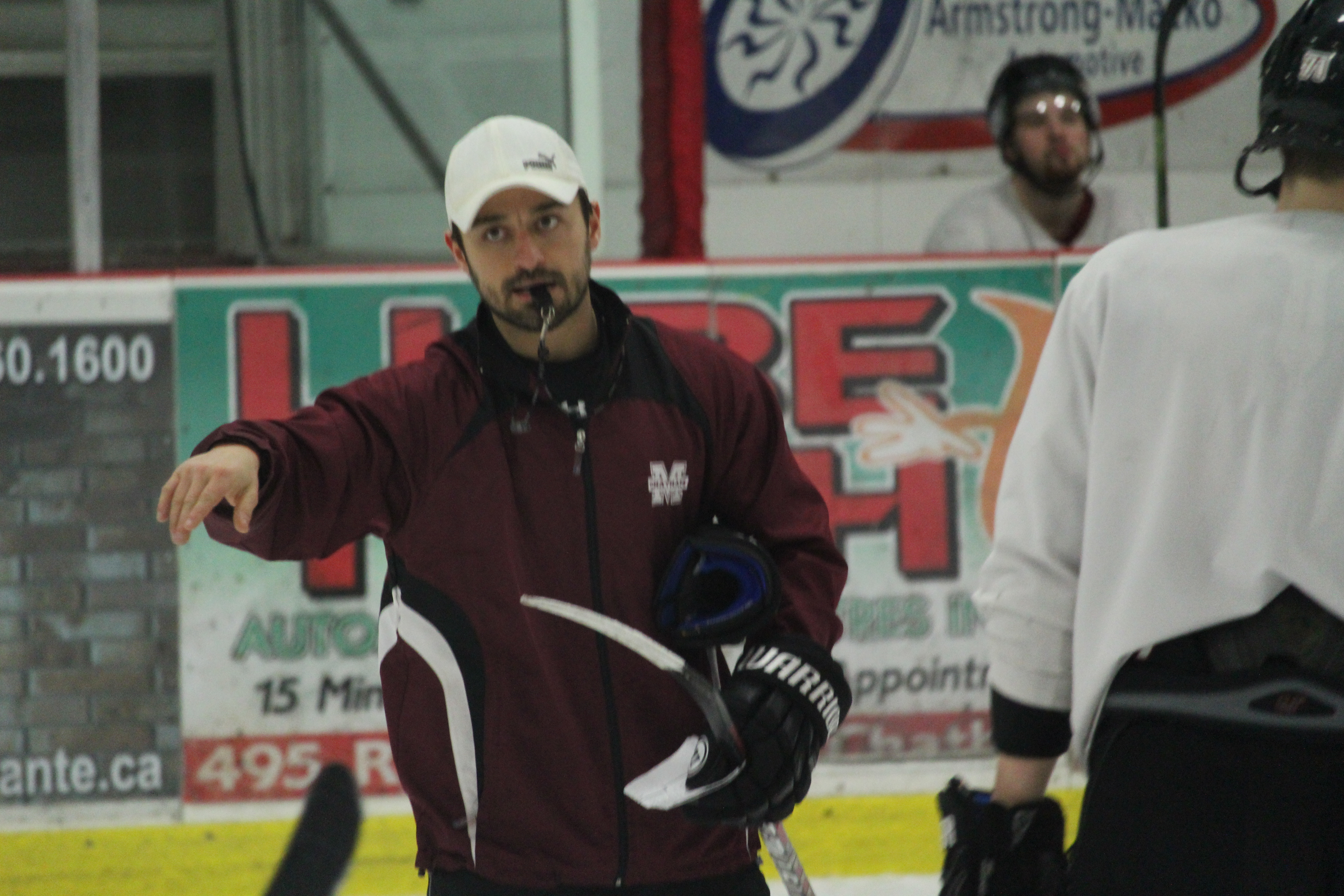 Chatham Maroons Head Coach Tyler Roeszler, March 1, 2016 (Photo by Jake Kislinsky)