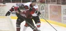 The Chatham Maroons take on the Leamington Flyers in the GOJHL semi-finals, March 22, 2016 (Photo by Jake Kislinsky)