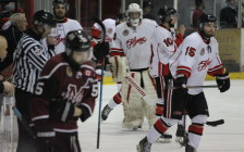 The Chatham Maroons take on the Leamington Flyers, March 24, 2016. (Photo by Matt Weverink)