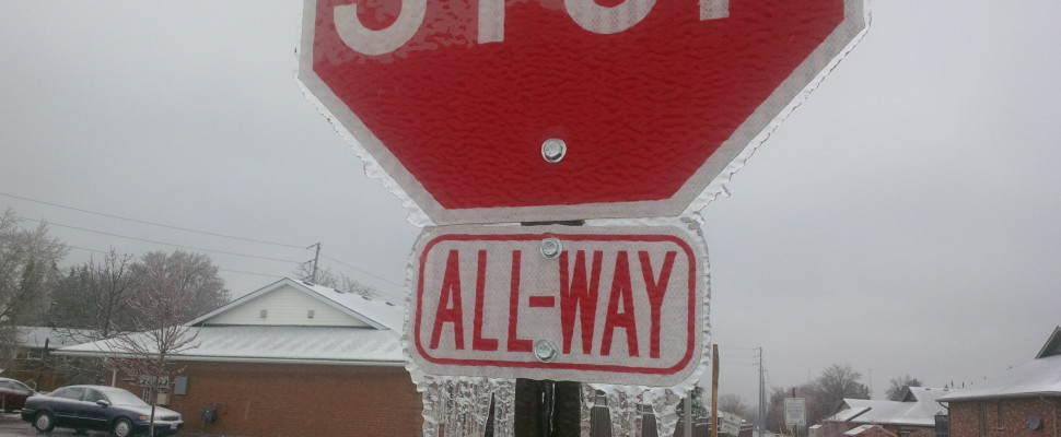 Ice-Sign-Freezing Rain
