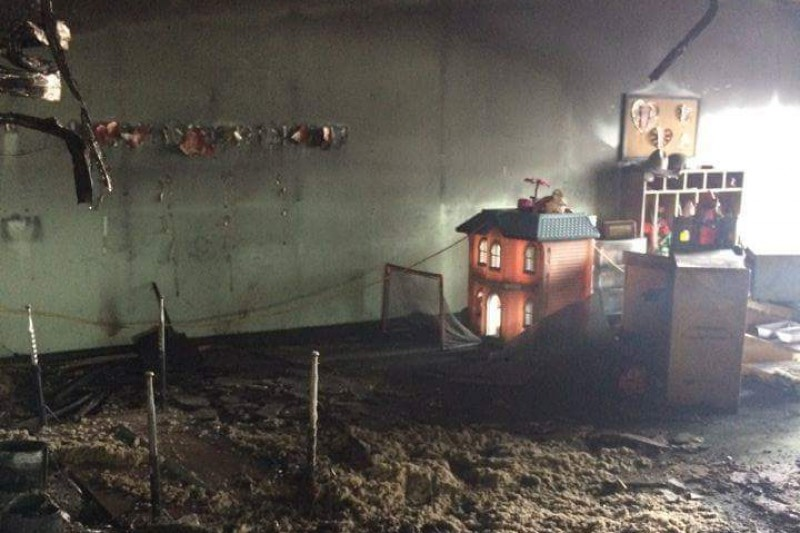 Photo of fire damage at Kilworth Children's Centre. Photo from www.gofundme.com.