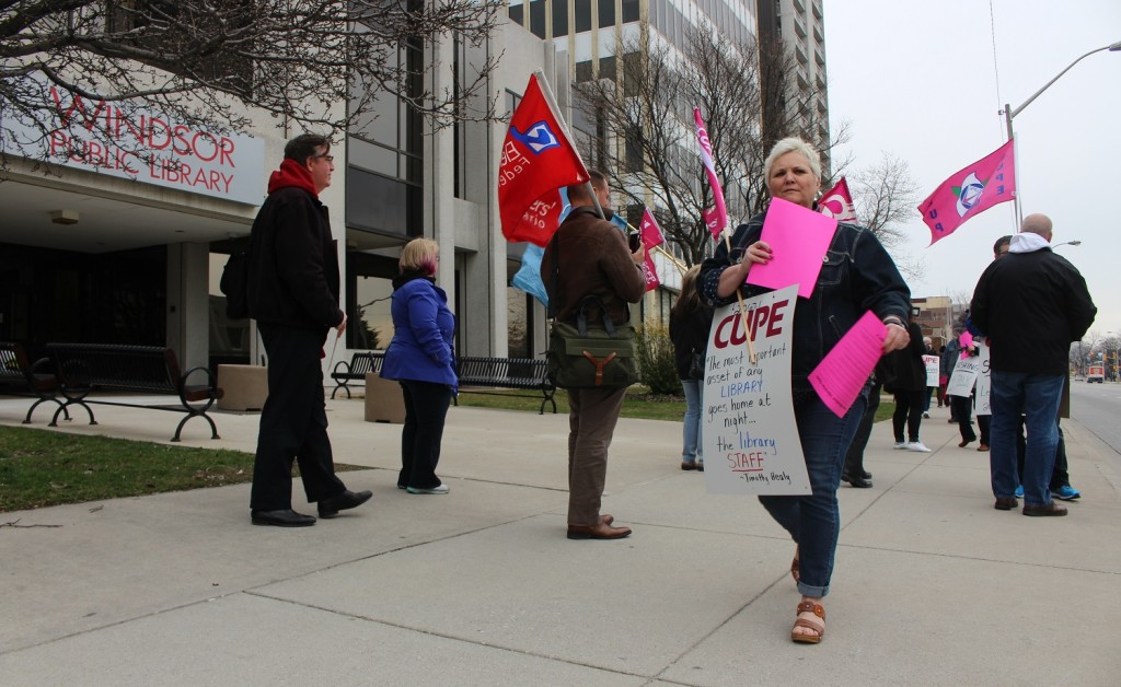 Windsor Public Library Info Picket