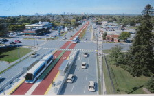 Artist's rendition of BRT on Wellington Rd at Baseline Rd. E. Courtesy of city of London.