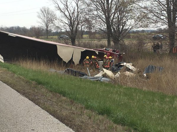 UPDATE: Driver In Stable Condition After Hwy. 401 Crash