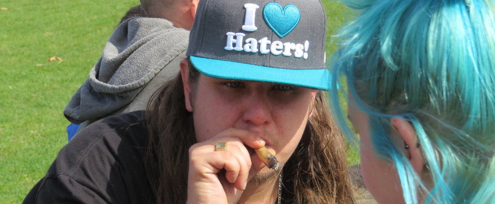 A number of marijuana supporters turned out to London's Victoria Park for 4/20, April 20, 2016. (Photo by Kirk Dickinson)