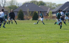 The Irish hosted Chatham-Kent in the 'AAA' Senior Boys Soccer Semi Finals. Photo by Jake Jeffrey. May 17, 2016