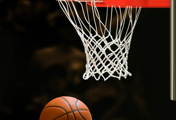 Basketball hoop and ball. © Can Stock Photo Inc. / ssuaphoto