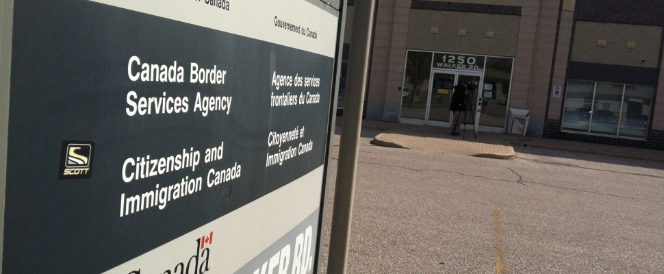 BlackburnNews.com file photo of the CBSA office on Walker Rd. (Photo by Jason Viau)