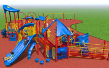An artist rendering of the playground equipment financed by Jenny Jones. Photo provided by the City of London.
