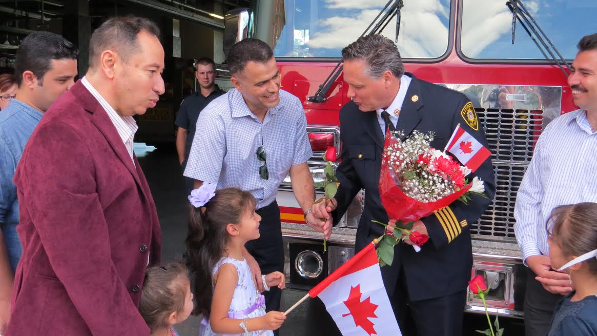 Refugees Thank London Fire Department For Safety Lessons