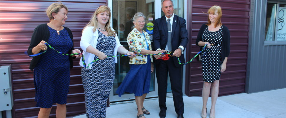 Ribbon cutting ceremony at the Adult Language and Learning new location in downtown Chatham. June 29, 2016. (Photo by Natalia Vega)