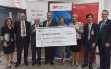 3M Canada donating $600,000 to London Health Sciences Centre and St. Joseph's Health Care London, June 10, 2016. Photo courtesy of 3M Canada.