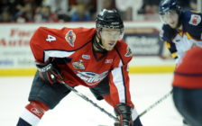 Taylor Hall of the Windsor Spitfires in Game 4 of the 2010 Rogers OHL Championship Series in Windsor on Tuesday May 4. (Photo courtesy of Aaron Bell/OHL Images)