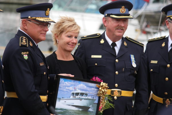 OPP Boat Named For Former Commissioner (GALLERY)