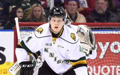 Olli Juolevi of the London Knights. (Photo courtesy of Aaron Bell via OHL Images)