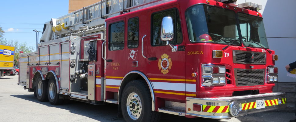 File photo of a London fire truck. (Photo by Miranda Chant, Blackburn News)