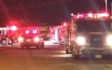 Tecumseh fire crews rushed to Advance Engineering in the 2000-block of North Talbot Sunday at around 10pm. (Photo courtesy Tecumseh fire)