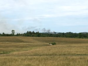 Another look at the wheat field fire on a farm near Paisley. (Phot by Jordan MacKinnon)