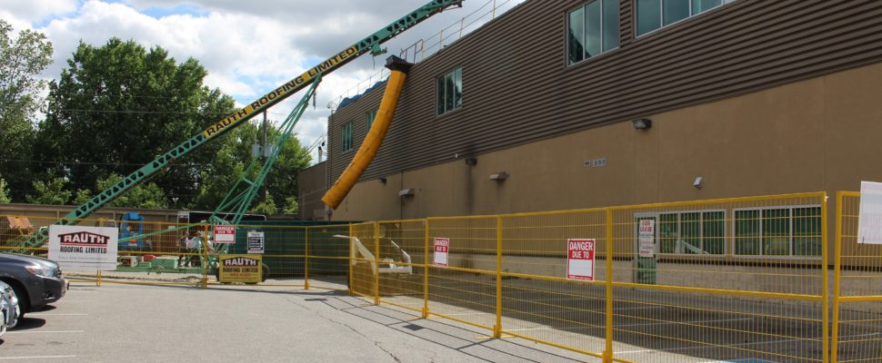 Goodlife Fitness on Dougall Ave. in Windsor where a worker was seriously injured July 15, 2016. (Photo by Maureen Revait)