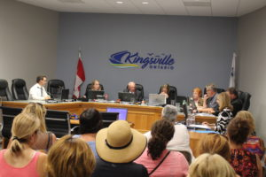 Deputy Mayor Gord Queen chairs the July 11, 2016 regular meeting of Kingsville council in the absence of Mayor Nelson Santos. (Photo by Ricardo Veneza)