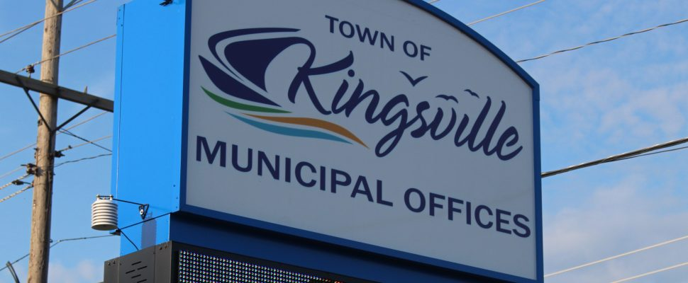 The sign outside of the Town of Kingsville Municipal Officers is seen on July 11, 2016. (Photo by Ricardo Veneza)