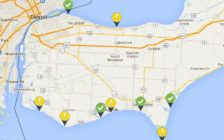 Map of local beaches provided by the Windsor and Essex County Health Unit, July 15, 2016. Map of local beaches provided by the Windsor and Essex County Health Unit, July 15, 2016.