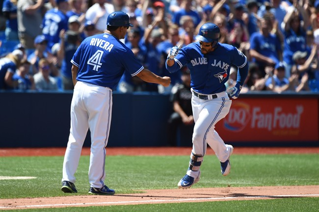 Blue Jays take 1st place in AL East with win