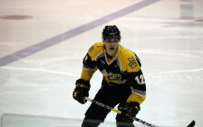 Sarnia Sting CHL import pick Adam Ruzicka at camp Aug. 29, 2016 (BlackburnNews.com photo by Dave Dentinger)