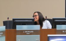 Ward 5 Councillor Maureen Cassidy returns to work following leave of absence, August 22, 2016. (Photo by Miranda Chant)