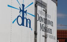 A truck for the Downtown Mission is seen on August 11, 2016. (Photo by Ricardo Veneza)