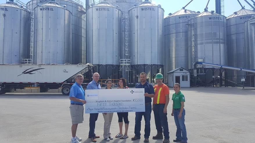 Snobelen Farms Donates to Wingham & District Hospital Foundation