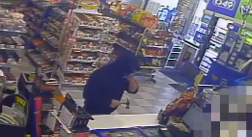 Convenience Stores Robbed By Man With Hammer (VIDEO)