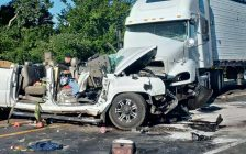 Police investigate a two vehicle crash on Hwy. 3 west of Kingsville, September 1, 2016. (Photo courtesy of the OPP)