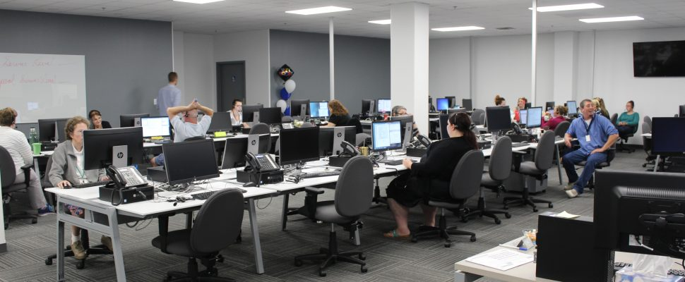 The work space at the new YA Canada facility at 730 Richmond St. in Chatham. September 8, 2016. (Photo by Jake Kislinsky)