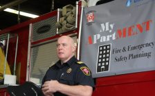 Chatham-Kent Assistant Fire Chief Chris Case, September 28, 2016 (Photo by Jake Kislinsky)