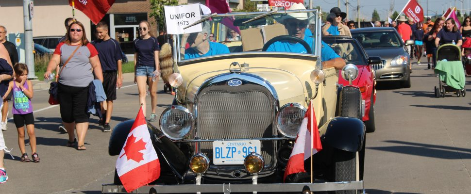 The Labour Day Parade in Windsor, September 5, 2016. (Photo by Adelle Loiselle.)